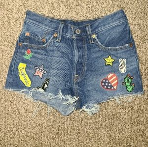 Levi Cut-Off Shorts with Patches